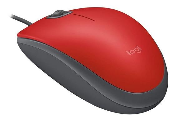 Mouse Logitech Silent Usb Vermelho M110 910-005492 27520