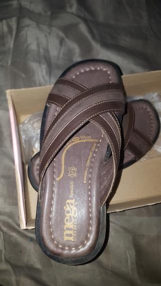 Sandalias Para Caballero De Cuero Talla 40