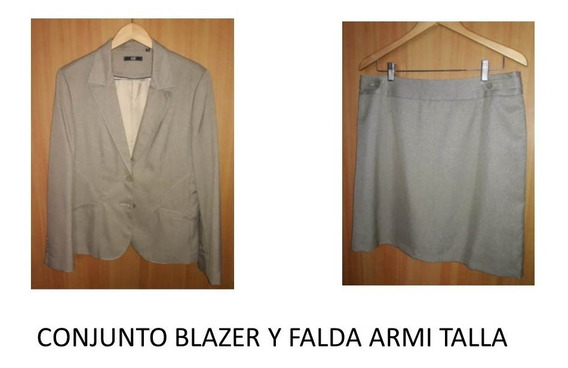 Traje Armi Blazer Y Falda