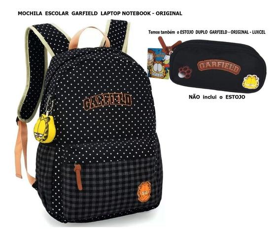 Mochila Escolar Garfield Laptop Notebook