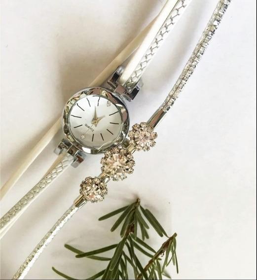 Relógio Feminino Quartz Pulseira Em Couro Fashion Retro