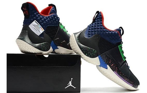 Jordan Why Not Zer0.2 Black/navy Blue-red