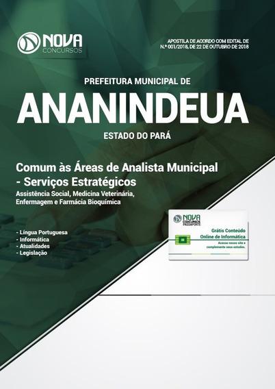 Apostila Pref Ananindeua-pa 2018 - Comum As Áreas De Analist