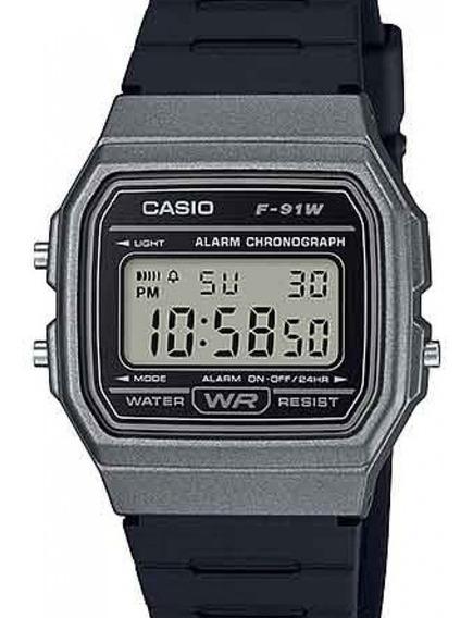 Relógio Casio Unissex Vintage Digital F-91wm-1bdf-br