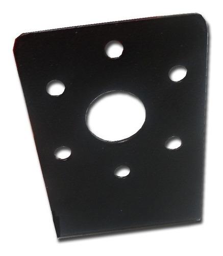 Chapa Porta Enchufe Vehiculo Trailer Color Negro Con Pestaña