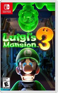 Luigi Mansion 3 Físico Nintendo Switch Envio Gratis!!