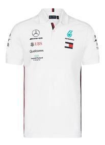 Camisa Polo Mercedes Petronas Blanca Hamilton **nueva 2019**