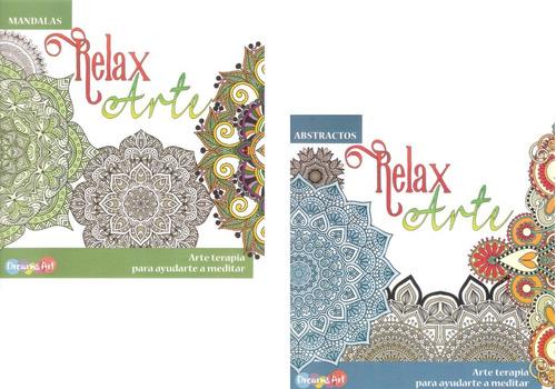 Paquete Mandalas Colorear Relajación Anti Estres Libro