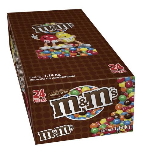 Caja Con 24 M&ms Chocolate Con Leche 47.9gr
