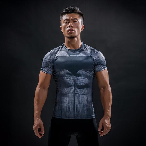 Camisa Compressao Marvel Batman Vs Superman Liga Justiça 3d