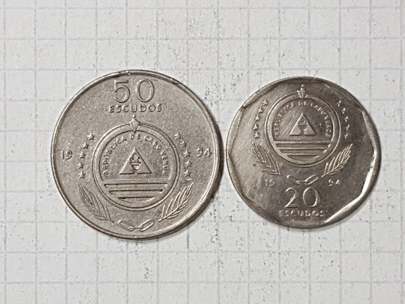 Cabo Verde 20 Y 50 Escudos 1994 Conmemorativas