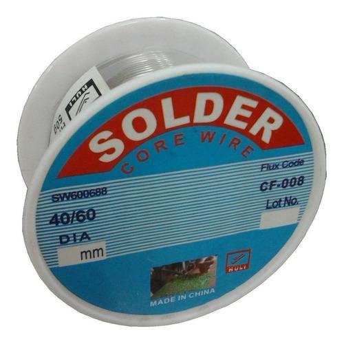 Estaño Fideo Rollo De 500 Gr  1mm O 1.5 Mm 40/60