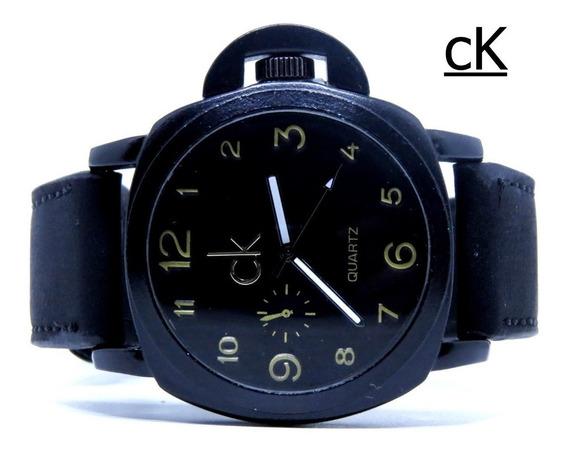 Relógio Dourado Prata Aço Grande Pesado Barato P Entrega Top