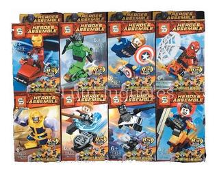Lego Simil Avengers X8 Packs Thor Hulk Iron Man Thanos