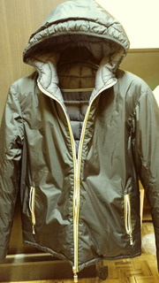 Campera Inflable Impermeable Y Rompevientos Reversible