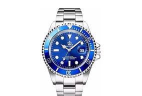 Relógio Reginald Submariner Azul Novo Quartz