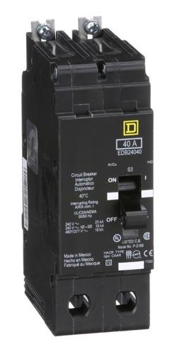 Imagen 1 de 1 de Interruptor Termomagnético Edb 2p 40a Schneider Edb24040