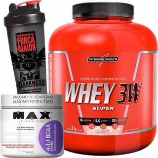 Whey 3w 1,8kg Integralmedica + Bcaa Drink 4:1:1 Max Titanium