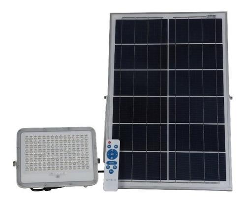 Reflector Led Con Panel Solar 200w Y Control Remoto