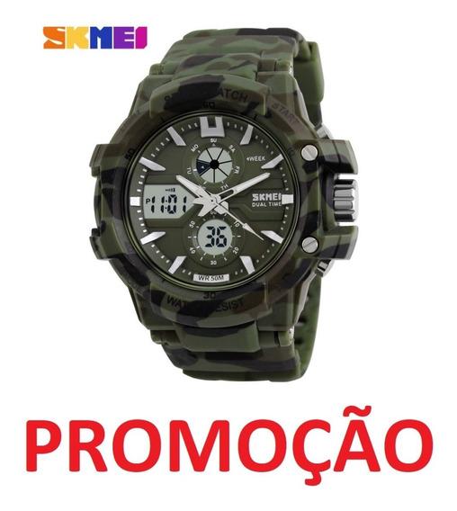 Relógio Masculino Camuflado Skmei Militar Shock Analógico