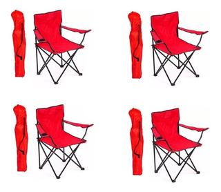 4 Sillas De Playa Alberca Camping Outdoors