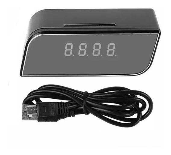 Câmera Relógio Espiã Wifi Ip 1080p Monitoramento