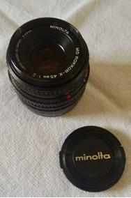 Lente Minolta Md Rokkor-x 45mm F2.0 + Adaptador Sony Nex