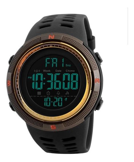 Relógio Digital Esporte A Prova Shock D´agua Dourado