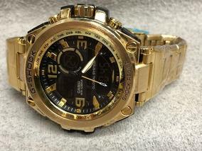 Relógio G-shock Todo Em Aço Inoxidável A Prova D´água