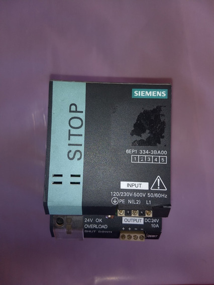 Fonte Siemens Sitop Modular 24vdc/10a