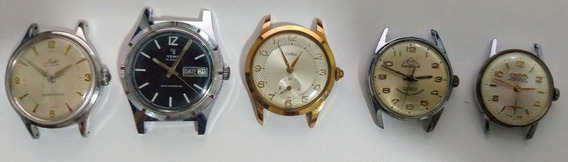 Lote Relógios Suíços Antigos, Mido, Eska, Yema