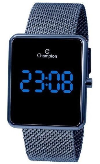 Relógio Champion Unissex Digital Ch40080a Azul Quadrado