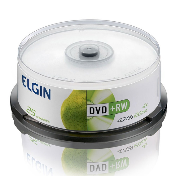 Dvd-rw Elgin Midia 4.7gb 120min 4x Bulk 25