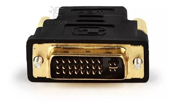 Adaptador Conector Dvi Digital Macho 24+5 Para Hdmi Fêmea