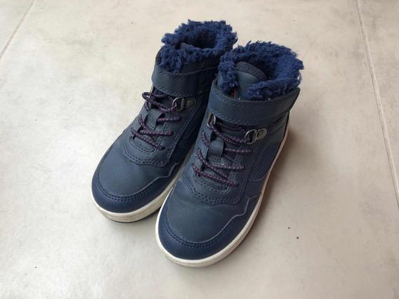 Zapatillas Botitas Nene Varon 26 Hym Azul Con Polar!