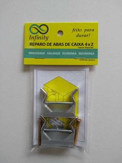 Kit C/ 2 Reparos Aba Caixa 4x2 Infinity Salva Caixinha Luz