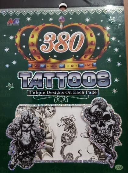 Tatuagem Caveira Cobra Animais Temporária Kit Com 6 Cartelas