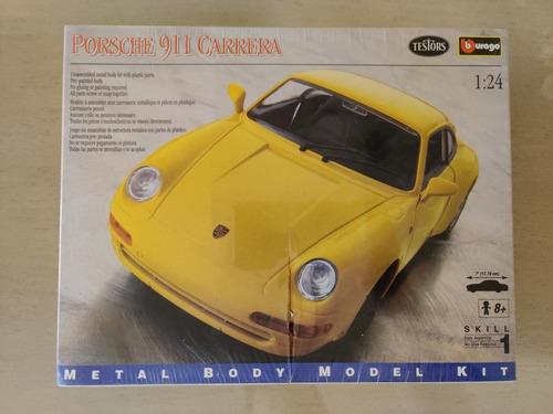 Burago Porsche 911 Carrera Metal Body Model Kit Escala 1/24