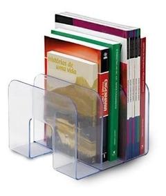Organizador Triplo De Livros Acrílico, Waleu