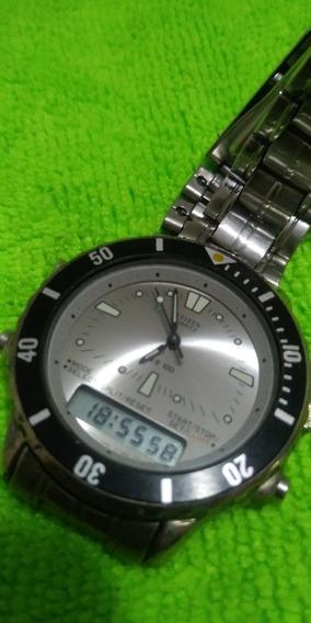 Relógio Citizen Gn4s Anadigi Funciona Tudo Luz Etc , Leia