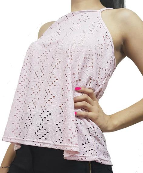 Blusa Musculosa Brodery Cruzada En La Espalda Para Mujer