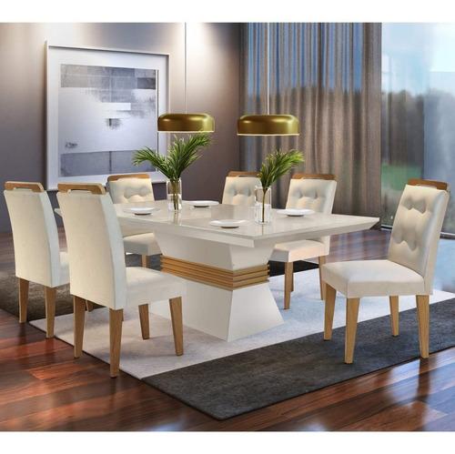 Conjunto Mesa De Jantar 6 Cadeiras Dream Espresso Bc