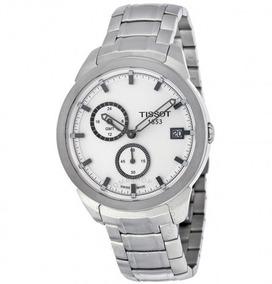 Relógio Suíço Tissot Titânio/prata/branco Gmt Small Seconds