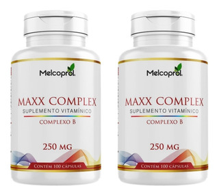 2 Vitaminas Do Complexo B 100 Caps 250mg (200 Caps)