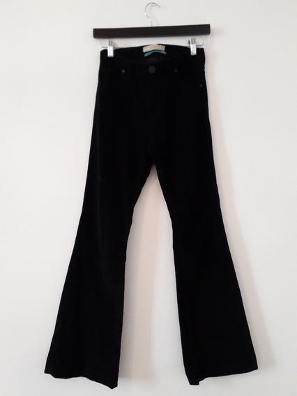 Pantalon Corderoy Elastizado Desiderata Negro 40 Oxford