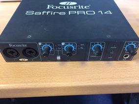 Placa De Áudio Profissional - Focusrite Saffire Pro 14