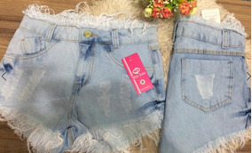 Kit 03 Shorts Jeans Feminino Destroyed Hot Pants Anitta