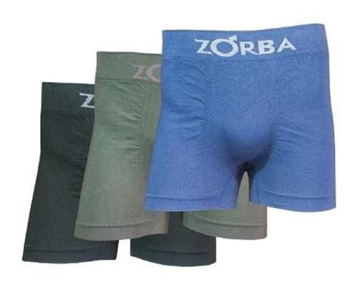 Promo Pack X 6 Boxers Zorba Lisos Sin Costura Algodón
