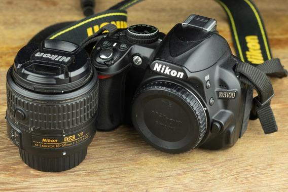 Nikon D3100 Com Lente Nikkor 18-55mm Vr Ii
