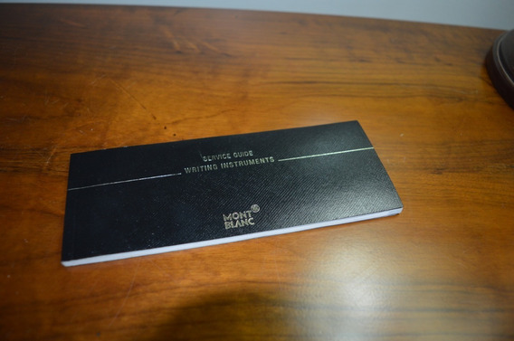 Manual Da Caneta Mont Blanc
